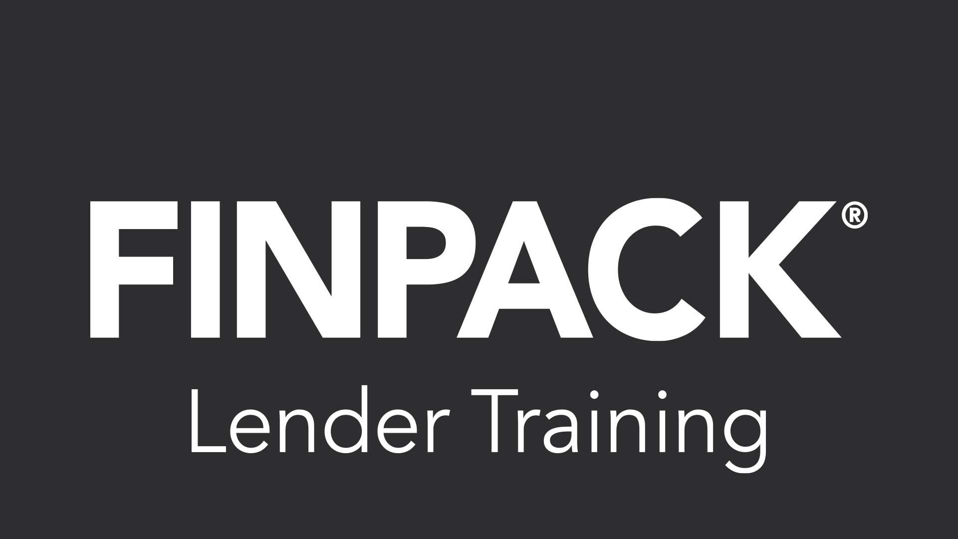 FINPACK Lender Training