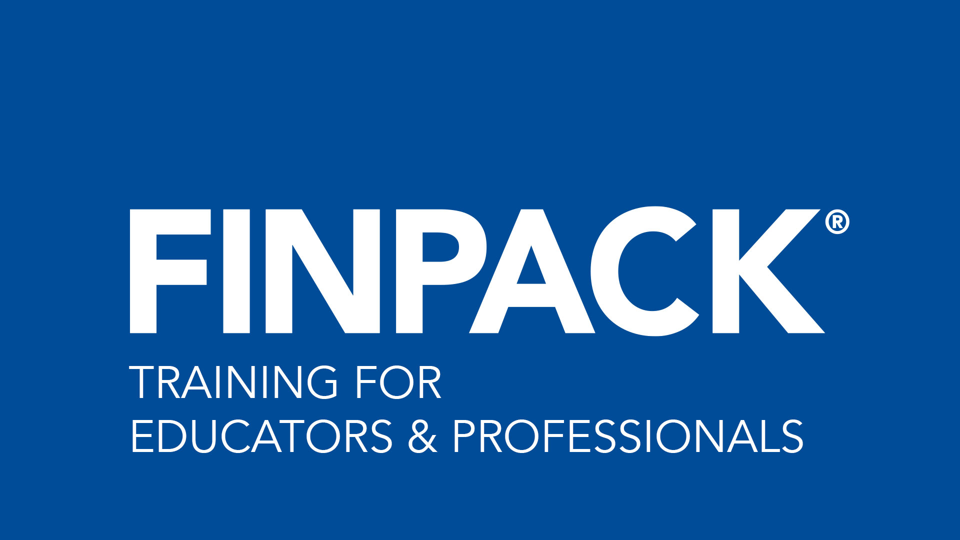 FINPACK Training for Educators and Professionals